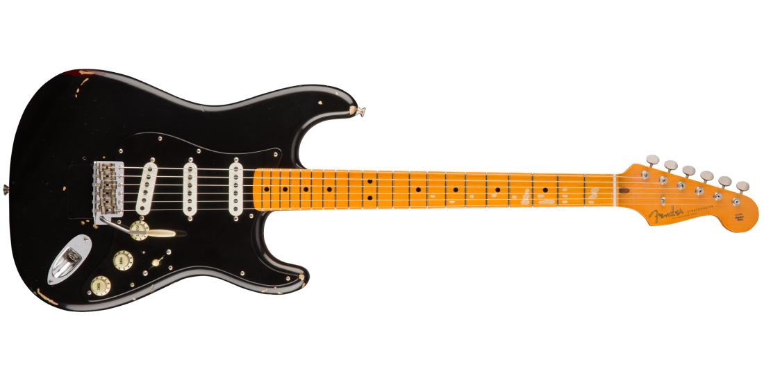 Fender Musical Instruments - David Gilmour Signature Stratocaster Relic,  Maple Fingerboard - Black over 3-Colour Sunburst