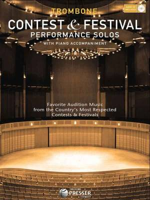 Contest and Festival Performance Solos - Trombone/Piano - Book/CD
