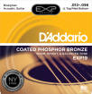 DAddario - EXP19 - Phosphor Bronze Coated Strings, Bluegrass, 12-56