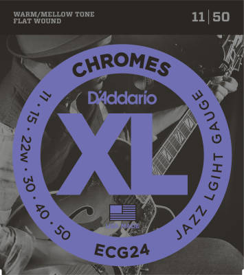 ECG24 - Chromes Flat Wound JAZZ LIGHT 11-50