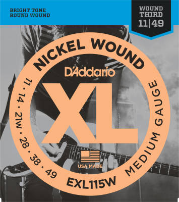 EXL115W - Nickel Wound BLUES/JAZZ ROCK /WND 3 11-49