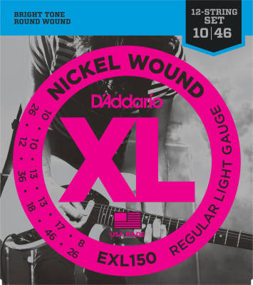 EXL150 - Nickel Wound 12-STRING SUPER LIGHT 10-46