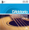 DAddario - EJ16-3D - Phosphor Bronze LIGHT 12-53 - 3 Pack