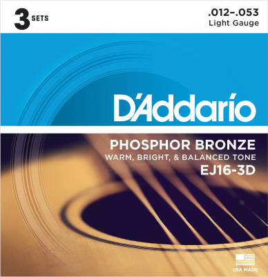 EJ16-3D - Phosphor Bronze LIGHT 12-53 - 3 Pack
