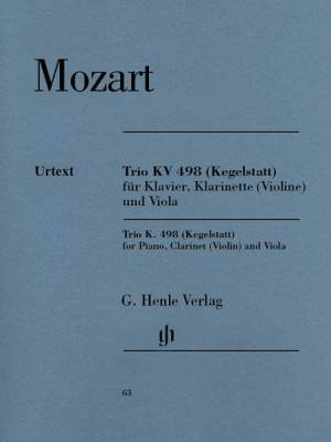 Trio in E-flat Major K. 498 (Kegelstatt)