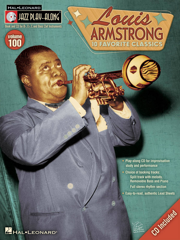 Hal Leonard Louis Armstrong Jazz Play Along Volume 100