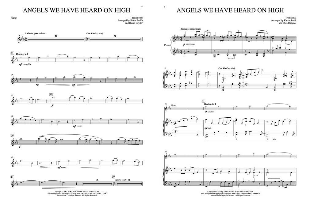 Piano o holy night advanced piano sheet music : Hal Leonard O Holy Night: A Christmas Collection For Flute & Piano ...