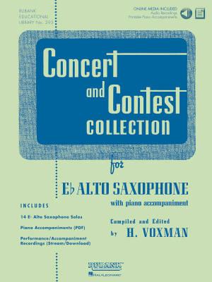 Concert and Contest Collection for Eb Alto Saxophone - Voxman - Book/Media Online