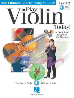 Play Violin Today! A Complete Guide to the Basics, Level 2 - Book/Audio Online