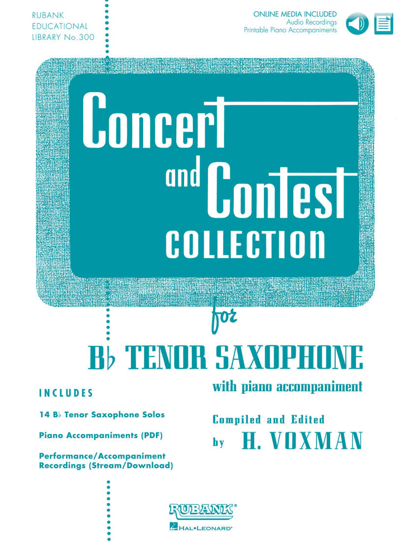 Hal Leonard - Concert and Contest Collection for Bb Tenor Saxophone -  Voxman - Book/Media Online