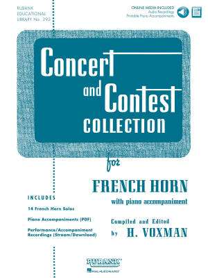 Concert and Contest Collection for F Horn - Voxman - Book/Media Online