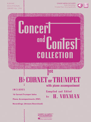 Concert and Contest Collection for Bb Cornet or Trumpet - Voxman - Book/Media Online