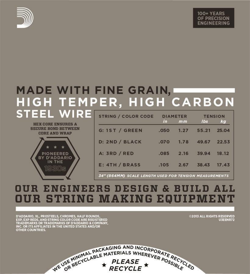 d 39 addario enr72 half rounds long scale 50 105 long mcquade musical instruments. Black Bedroom Furniture Sets. Home Design Ideas