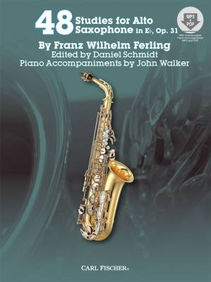 48 Studies for The Alto Saxophone In Eb, Op. 31 - Walker/Ferling/Schmidt - Book/Audio Online