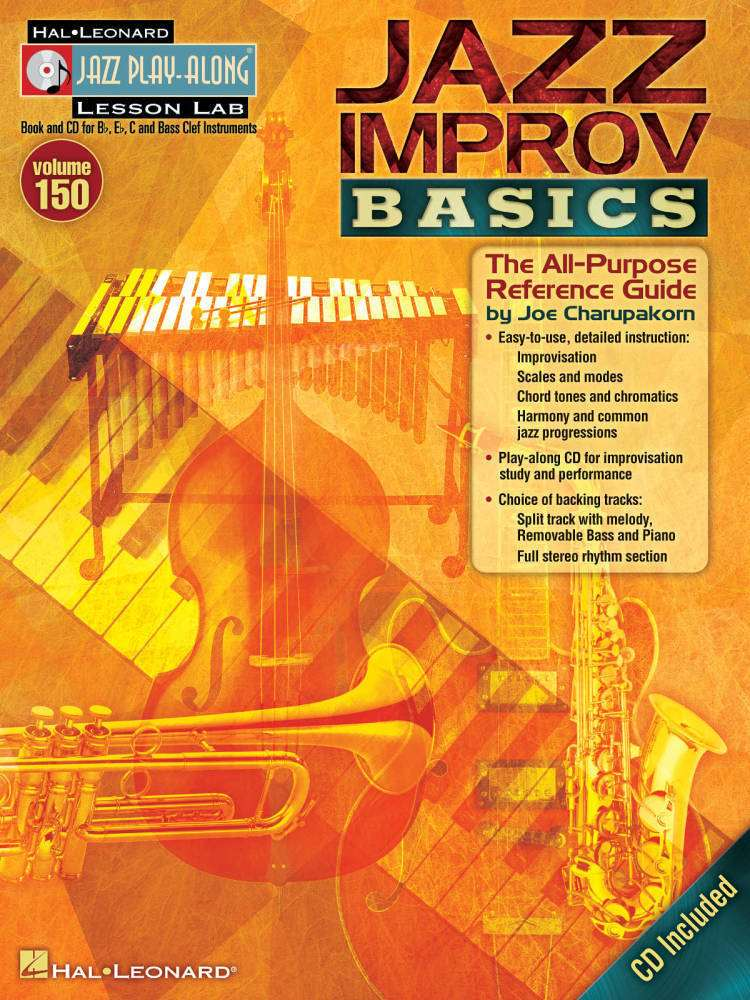 hal leonard jazz improv basics jazz play along vol 150 book cd long mcquade musical. Black Bedroom Furniture Sets. Home Design Ideas