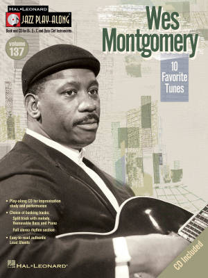Wes Montgomery Jazz Play-Along Volume 137 - Book/CD