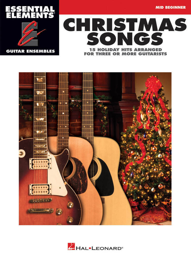 hal leonard christmas songs essential elements guitar ensembles book long mcquade. Black Bedroom Furniture Sets. Home Design Ideas