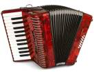 Hohner - Hohnica 1303 Piano Accordion - 26 Keys/12 Bass - Red