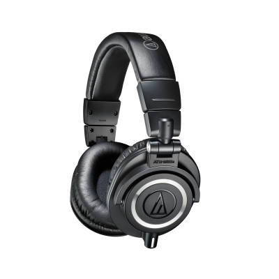 ATH-M50X Closed Back Monitor Headphones w/3 Cables - Black