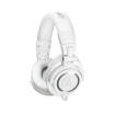 Audio-Technica - ATH-M50X Closed Back Monitor Headphones w/3 Cables - White