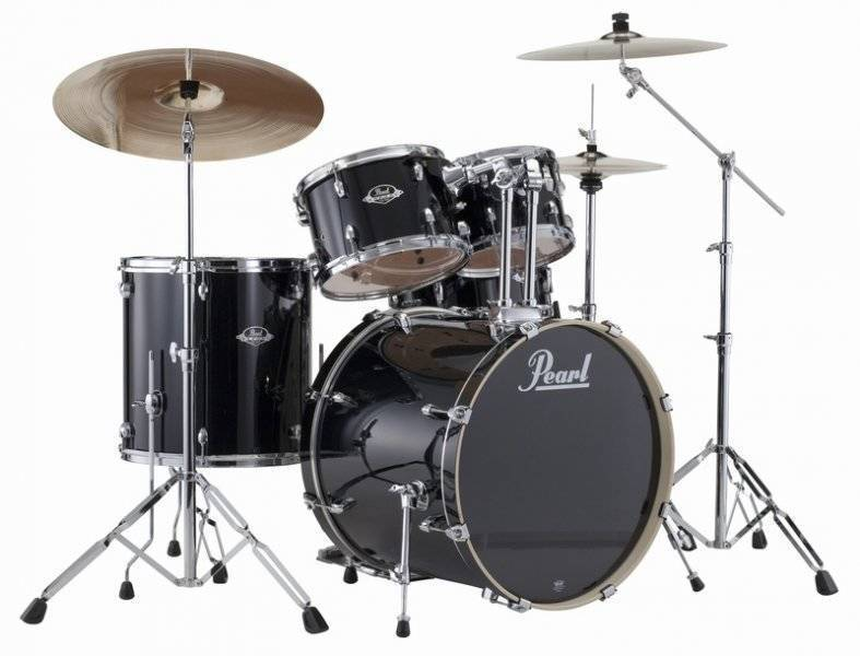 pearl export exx 5 piece kit w hardware cymbals jet black long mcquade musical instruments. Black Bedroom Furniture Sets. Home Design Ideas