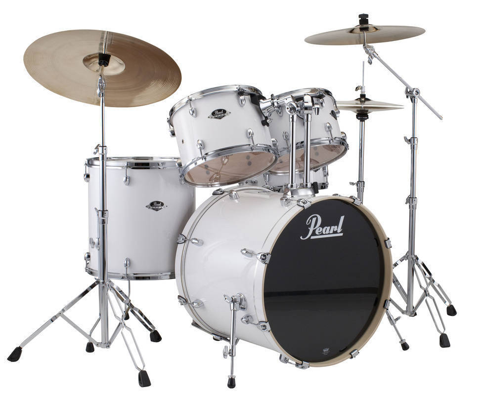 pearl export exx 5 piece kit w hardware cymbals pure white long mcquade musical instruments. Black Bedroom Furniture Sets. Home Design Ideas