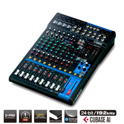 12 Channel MG Series Mixer w/Effects