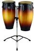 Meinl - Headliner Wood Congas 11 & 12 inch with Stand, Vintage Sunburst
