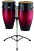 Meinl - Headliner Wood Congas 11 & 12 inch with Stand, Wine Red Burst