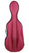 Aileen - 3/4 ABS Cello Case with Wheels - Red