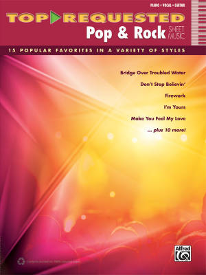 Top-Requested Pop & Rock Sheet Music - Piano/Vocal/Guitar - Book