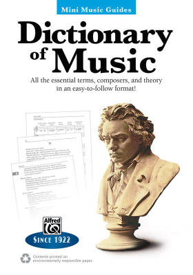 Mini Music Guides: Dictionary of Music - Book
