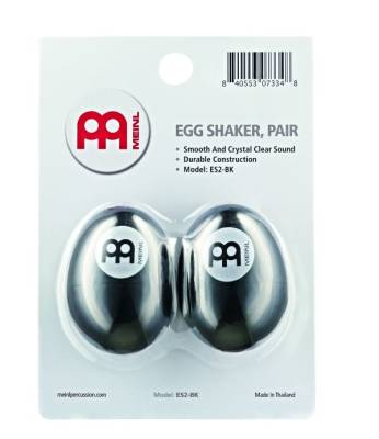 Egg Shaker Pair, Black