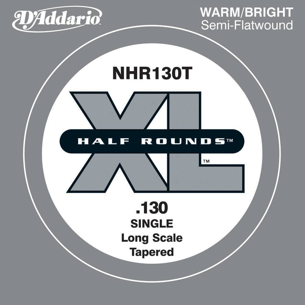 d 39 addario nhr130t half round bass guitar single string long scale 130 tapered long mcquade. Black Bedroom Furniture Sets. Home Design Ideas