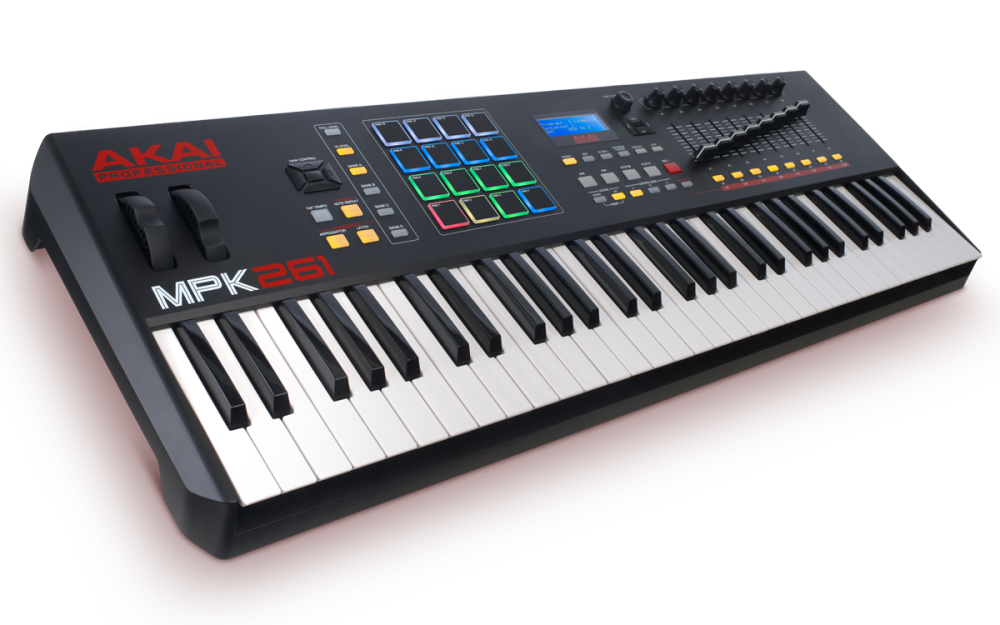 akai 61 key semi weighted keyboard controller long mcquade musical instruments. Black Bedroom Furniture Sets. Home Design Ideas