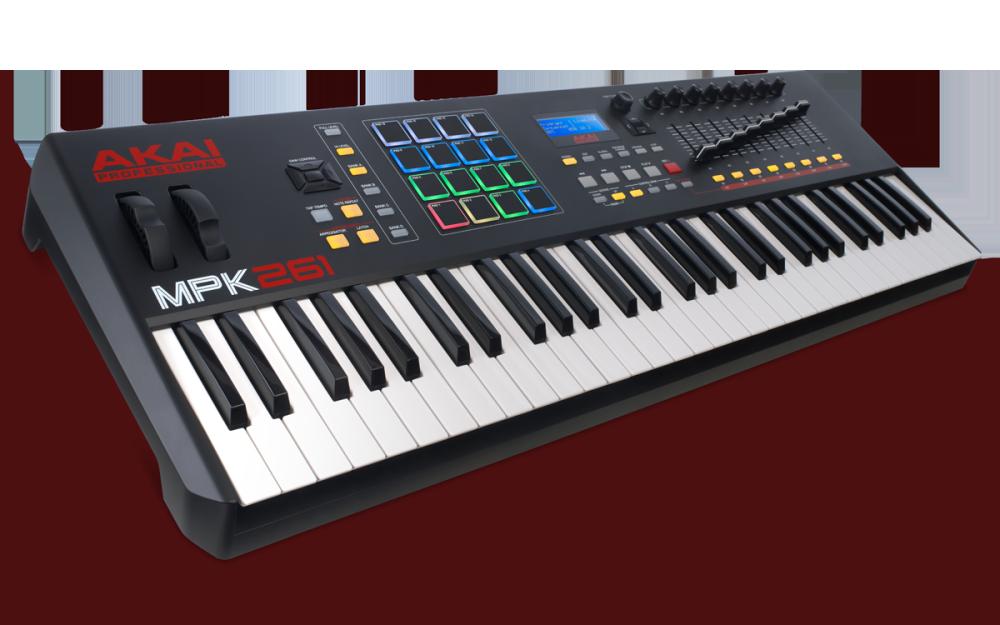 Akai 61 Key Semi-Weighted Keyboard Controller - Long ...