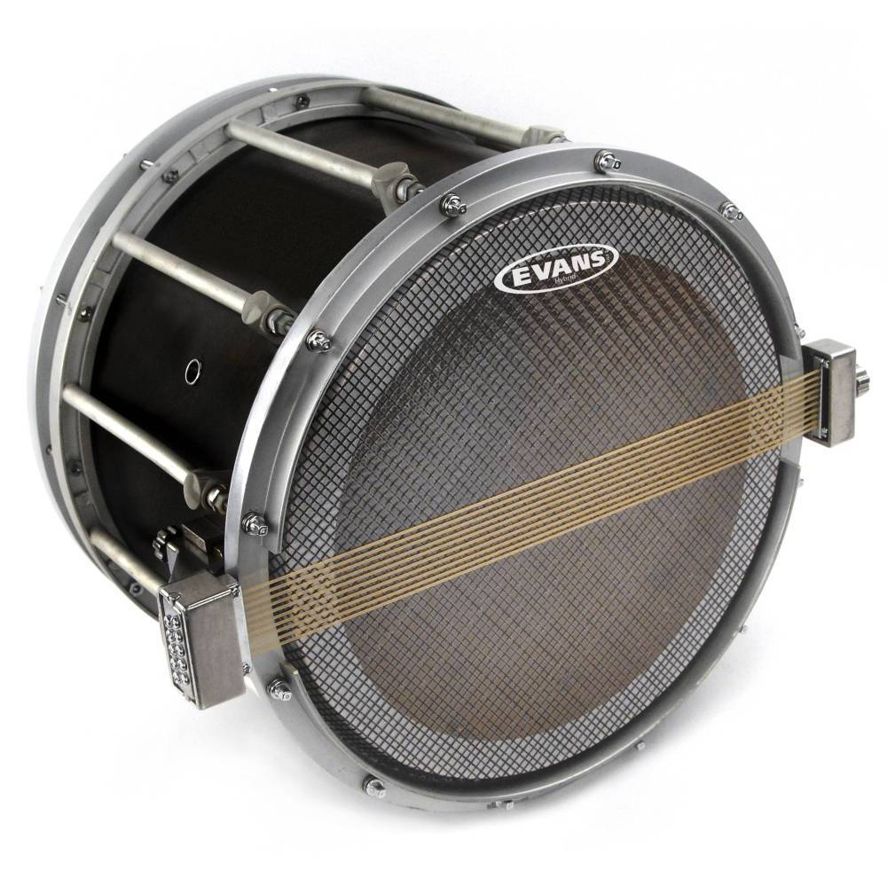 evans ss14mh1 evans hybrid series marching snare side drum head 14 inch long mcquade. Black Bedroom Furniture Sets. Home Design Ideas