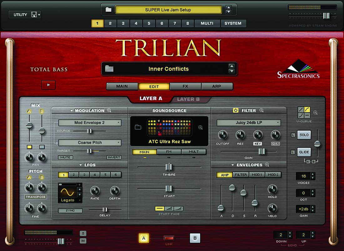 Trilian Virtual Bass Instrument