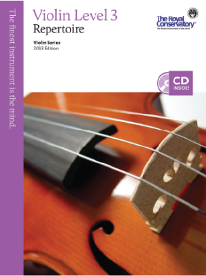 RCM Violin Level 3 Repertoire - Violin Series 2013 Edition - Book/CD