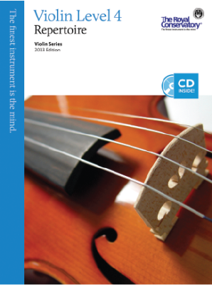 RCM Violin Level 4 Repertoire - Violin Series 2013 Edition - Book/CD