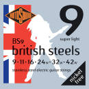 Rotosound - British Steels Electric Guitar Strings 9-42