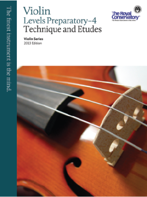 RCM Violin Technique and Etudes Preparatory-4 - Violin Series 2013 Edition - Book
