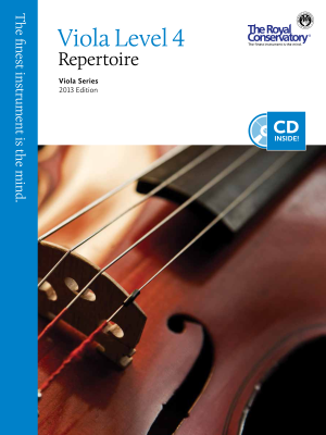 RCM Viola Level 4 Repertoire - Viola Series 2013 Edition - Book/CD