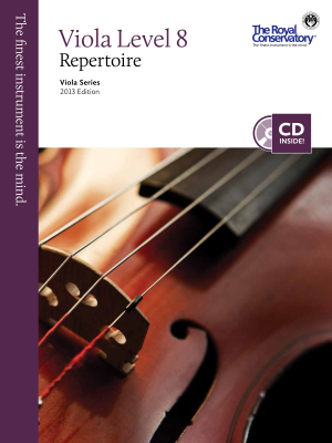 RCM Viola Level 8 Repertoire - Viola Series 2013 Edition - Book/CD