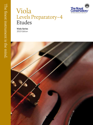 RCM Viola Etudes Preparatory- Level 4 - Viola Series 2013 Edition - Book