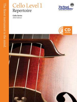 RCM Cello Level 1 Repertoire - Cello Series 2013 Edition - Book/CD