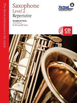 RCM Saxophone Level 2 Repertoire - Saxophone Series 2014 Edition - Book/CD
