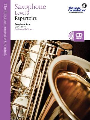 RCM Saxophone Level 3 Repertoire - Saxophone Series 2014 Edition - Book/CD