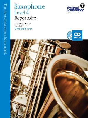 RCM Saxophone Level 4 Repertoire - Saxophone Series 2014 Edition - Book/CD