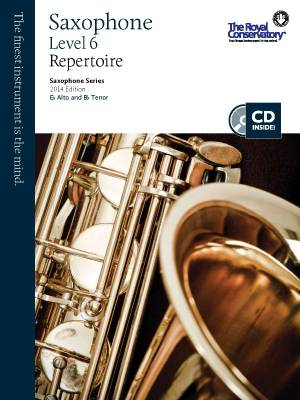 RCM Saxophone Level 6 Repertoire - Saxophone Series 2014 Edition - Book/CD